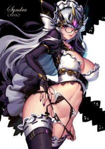Rating: Questionable Score: 35 Tags: cianyo cleavage garter_belt league_of_legends megane pantsu panty_pull stockings syndra thighhighs undressing User: Mr_GT