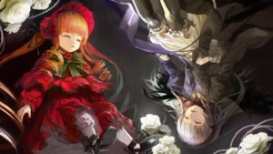 Rating: Safe Score: 20 Tags: attall dress garter lolita_fashion rozen_maiden shinku suigintou thighhighs User: Debbie