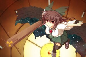 Rating: Safe Score: 11 Tags: cross reiuji_utsuho thighhighs touhou wings User: 椎名深夏