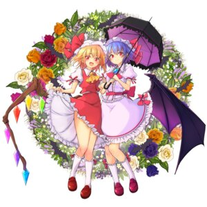 Rating: Safe Score: 13 Tags: flandre_scarlet maru-pen remilia_scarlet skirt_lift touhou umbrella wings User: Mr_GT