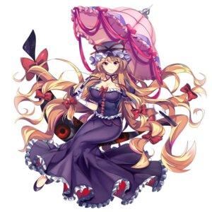 Rating: Safe Score: 12 Tags: cleavage tagme touhou umbrella yakumo_yukari User: marechal