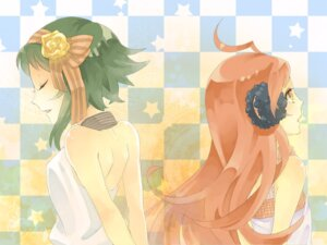 Rating: Safe Score: 9 Tags: gumi miki_(vocaloid) naeta vocaloid wallpaper User: Radioactive