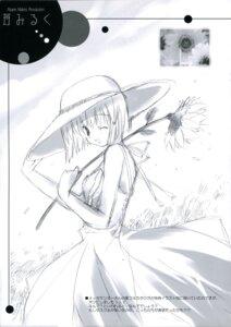 Rating: Safe Score: 4 Tags: dress ikegami_akane monochrome sketch summer_dress User: admin2
