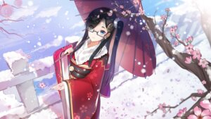 Rating: Safe Score: 41 Tags: freeze kimono megane umbrella wallpaper User: Mr_GT