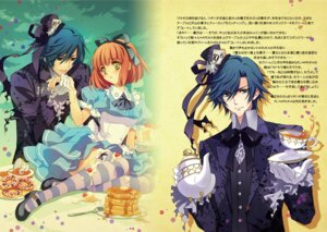 Rating: Safe Score: 16 Tags: alice_in_wonderland carnelian cream crossover ichinose_tokiya mad_hatter nanami_haruka_(uta_no_prince_sama) thighhighs uta_no_prince_sama User: charunetra