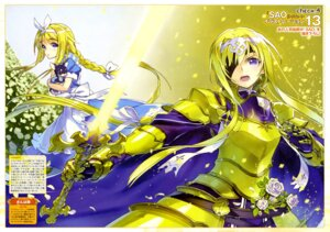 Rating: Safe Score: 23 Tags: alice alice_schuberg armor dress eyepatch sanbasou sword sword_art_online underworld User: drop