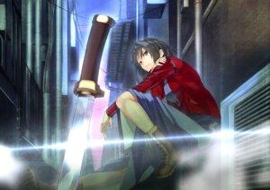 Rating: Safe Score: 13 Tags: akamiso kara_no_kyoukai ryougi_shiki weapon User: Nepcoheart