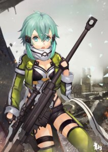 Rating: Safe Score: 15 Tags: cleavage garter gun gun_gale_online insoom sinon sword_art_online tagme thighhighs User: saemonnokami