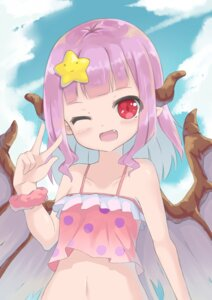 Rating: Questionable Score: 21 Tags: horns l4no-shiro loli pointy_ears swimsuits wings User: L4No
