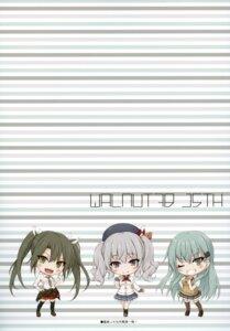 Rating: Safe Score: 4 Tags: chibi kantai_collection kashima_(kancolle) seifuku suien suzuya_(kancolle) sweater thighhighs uniform zuikaku_(kancolle) User: kiyoe