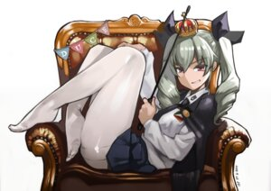 Rating: Safe Score: 44 Tags: anchovy girls_und_panzer pantyhose uniform weapon yom User: Mr_GT