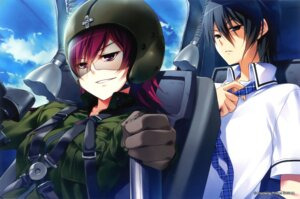 Rating: Safe Score: 14 Tags: armor endcard grisaia_no_rakuen kazami_yuuzi megane milliela_stanfield nanaca_mai seifuku uniform User: fireattack