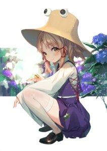 Rating: Safe Score: 32 Tags: moriya_suwako skirt_lift thighhighs touhou yu-ri User: Mr_GT