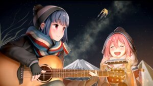 Rating: Safe Score: 32 Tags: casino_(artist) guitar kagamihara_nadeshiko shima_rin yurucamp User: Mr_GT