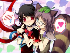 Rating: Safe Score: 10 Tags: animal_ears chima_q futatsuiwa_mamizou houjuu_nue megane touhou wallpaper User: Mr_GT