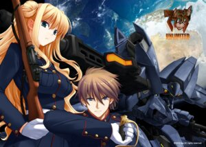 Rating: Safe Score: 22 Tags: gun himukai_kyousuke lilia_kjellberg mecha muvluv sword uniform wallpaper wilbert_d_collins User: redlink