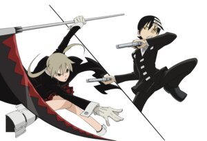 Rating: Safe Score: 7 Tags: death_the_kid gun maka_albarn seifuku soul_eater User: Radioactive