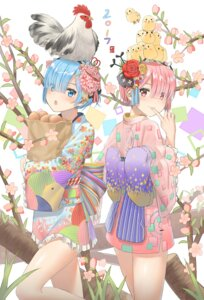 Rating: Safe Score: 56 Tags: kimono ram_(re_zero) re_zero_kara_hajimeru_isekai_seikatsu rem_(re_zero) tagme User: Mr_GT