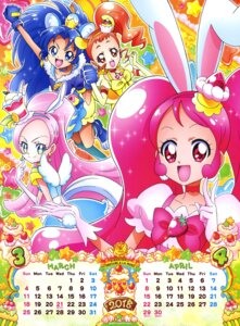 Rating: Safe Score: 5 Tags: animal_ears arisugawa_himari bunny_ears calendar dress kirahoshi_ciel kirakira_precure_a_la_mode pretty_cure tategami_aoi usami_ichika wings User: drop