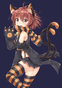 Rating: Safe Score: 25 Tags: akiteru98 animal_ears chen halloween nekomimi tail thighhighs touhou User: BattlequeenYume