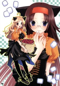 Rating: Safe Score: 13 Tags: animal_ears kirihara_izumi megane nekomimi tail thighhighs waitress User: blooregardo