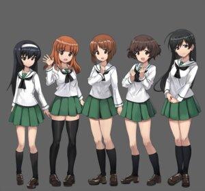 Rating: Safe Score: 20 Tags: akiyama_yukari girls_und_panzer heels isuzu_hana nishizumi_miho reizei_mako seifuku takebe_saori thighhighs User: saemonnokami