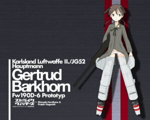 Rating: Safe Score: 9 Tags: gertrud_barkhorn strike_witches wallpaper User: WhiteExecutor