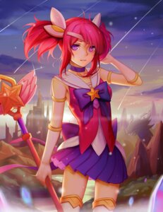 Rating: Safe Score: 53 Tags: league_of_legends luxanna_crownguard sonic0_0 thighhighs weapon User: Mr_GT