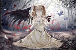 Rating: Safe Score: 22 Tags: bandages blood breast_hold dress wings yenshin User: KazukiNanako