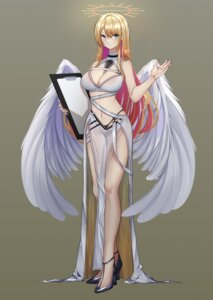 Rating: Questionable Score: 28 Tags: angel heels na2cl no_bra pantsu see_through wings User: Darkthought75