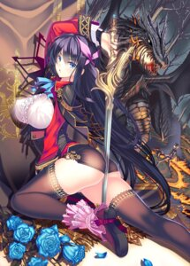 Rating: Questionable Score: 112 Tags: ass coffee_cat erect_nipples sword thighhighs User: fairyren