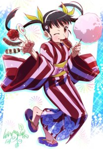 Rating: Safe Score: 9 Tags: bakemonogatari hachikuji_mayoi heels makicha monogatari_(series) yukata User: Yhomi