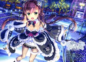 Rating: Safe Score: 29 Tags: animal_ears christmas dress fujima_takuya garter nekomimi pantyhose tail User: drop
