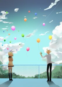 Rating: Safe Score: 9 Tags: kagamine_len kagamine_rin temari_(artist) vocaloid User: charunetra