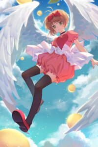 Rating: Safe Score: 12 Tags: card_captor_sakura duximeng kinomoto_sakura thighhighs wings User: RyuZU