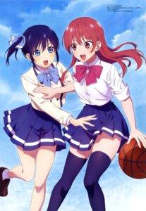 Rating: Safe Score: 43 Tags: aqua_inc. basketball kanojo_mo_kanojo minase_nagisa saki_saki seifuku skirt_lift thighhighs User: drop