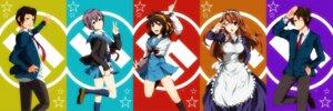 Rating: Safe Score: 4 Tags: asahina_mikuru koizumi_itsuki kyon nagato_yuki nao_(doublexdutch) seifuku suzumiya_haruhi suzumiya_haruhi_no_yuuutsu User: Radioactive