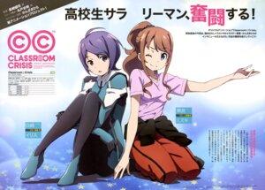 Rating: Safe Score: 33 Tags: bodysuit classroom_crisis ootake_akihiro sera_mizuki_(classroom_crisis) shirasaki_iris User: drop