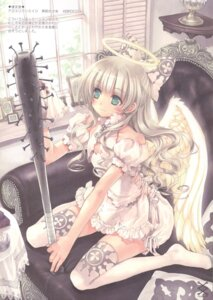 Rating: Safe Score: 47 Tags: angel aquarian_age blood dress kawaku thighhighs wings User: ming_tt