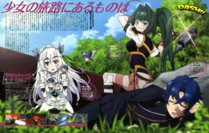 Rating: Safe Score: 21 Tags: akari_acura chaika_trabant hattori_satoshi hitsugi_no_chaika tooru_acura weapon User: drop