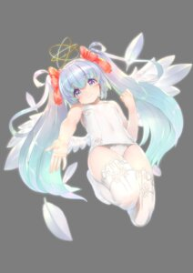 Rating: Questionable Score: 20 Tags: angel erect_nipples kawarage school_swimsuit swimsuits thighhighs transparent_png wings User: yanis