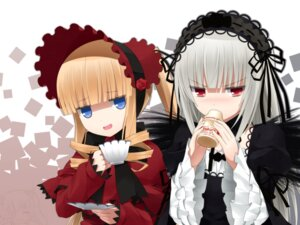 Rating: Safe Score: 56 Tags: gothic_lolita haribote lolita_fashion rozen_maiden shinku suigintou wings User: Radioactive
