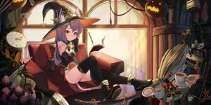 Rating: Safe Score: 3 Tags: animal_ears cleavage natori_youkai tail thighhighs witch User: Mr_GT