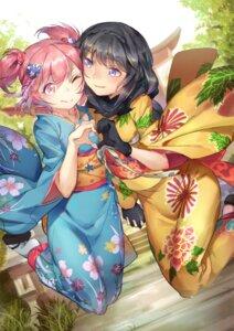 Rating: Safe Score: 16 Tags: akemi_homura kaname_madoka kimono pg_(pgouwoderen) puella_magi_madoka_magica User: Mr_GT