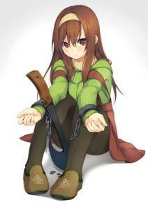 Rating: Safe Score: 44 Tags: bondage pantyhose sweater unasaka_ryou weapon User: fairyren