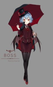 Rating: Safe Score: 38 Tags: business_suit ekita_gen pantyhose remilia_scarlet smoking touhou umbrella wings User: Mr_GT