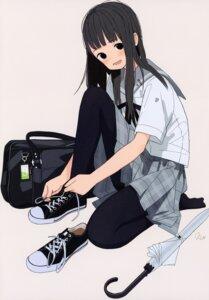 Rating: Safe Score: 21 Tags: kumanoi_(nichols) pantyhose seifuku umbrella User: StardustKnight
