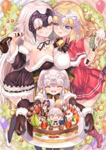Rating: Questionable Score: 32 Tags: chibi christmas cleavage dress fate/grand_order heels jeanne_d'arc jeanne_d'arc_(alter)_(fate) jeanne_d'arc_(fate) jeanne_d'arc_alter_santa_lily no_bra stockings symmetrical_docking thighhighs tonchan User: sym455