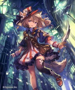 Rating: Safe Score: 45 Tags: animal_ears dress lee_hyeseung shingeki_no_bahamut tail thighhighs weapon User: Mr_GT