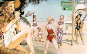 Rating: Safe Score: 4 Tags: bikini elvy_hadhiyat hotaru_kim kisaragi_quon nanamori_sayoko rahxephon shitow_haruka shitow_megumi swimsuits yamada_akihiro User: Umbigo